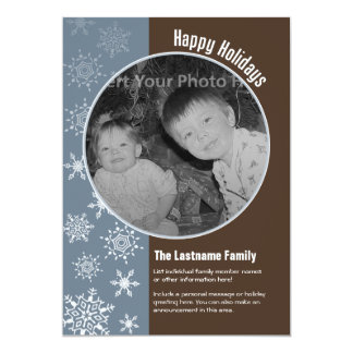 5x7 Double-sided Holiday Photo Card Personalized Announcements
