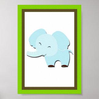 5X7 Elephant Jungle Animal Wall Art Posters
