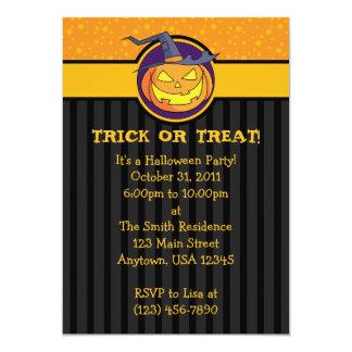 "5x7 Jack o Lantern Halloween Party Invitations 5"" X 7"" Invitation Card"