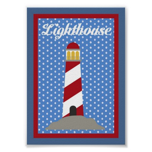 5X7 Lighthouse Nautical Wall Art