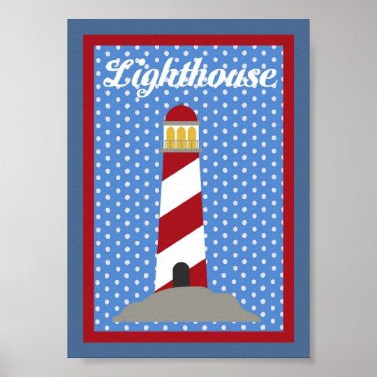 5X7 Lighthouse Nautical Wall Art