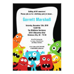 5x7 Little Monsters Birthday Invitation