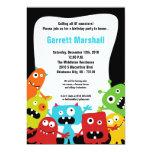 "5x7 Little Monsters Birthday Invitation 5"" X 7"" Invitation Card"