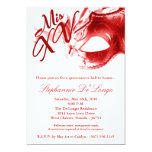 5x7 Masquerade Mask 15 Quinceanera Ball Invitation