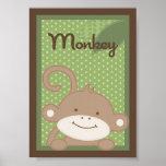 "5x7 ""Monkey"" Jungle Safari Baby Bedding Wall Art Posters"