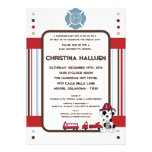 5x7 Nojo Fire Engine Baby Shower Invitation