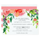 5x7 Paper Modern Watercolor Rose Floral Wedding Card