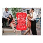 5x7 Peace, Love & Joy Frame 2 Photo Card 13 Cm X 18 Cm Invitation Card