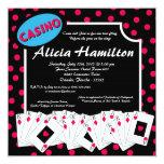 5x7 Pink & Blue Las Vegas Bachelorette Invitation