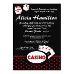 5x7 Red & Black Las Vegas Bachelorette Invitation