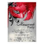 5x7 Red Masquerade Sweet 16 Birthday Invitation