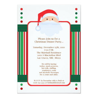 5x7 Red Santa Clause Christmas Party Invitation