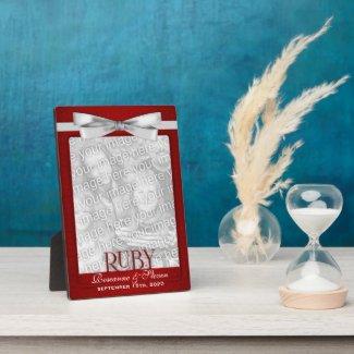 5x7 Ruby 40th Wedding Anniversary Photo Frame