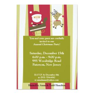 5x7 Santas Coming to Town Invitation