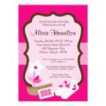 5x7 Spa Retreat Pink Bachelorette Invitation
