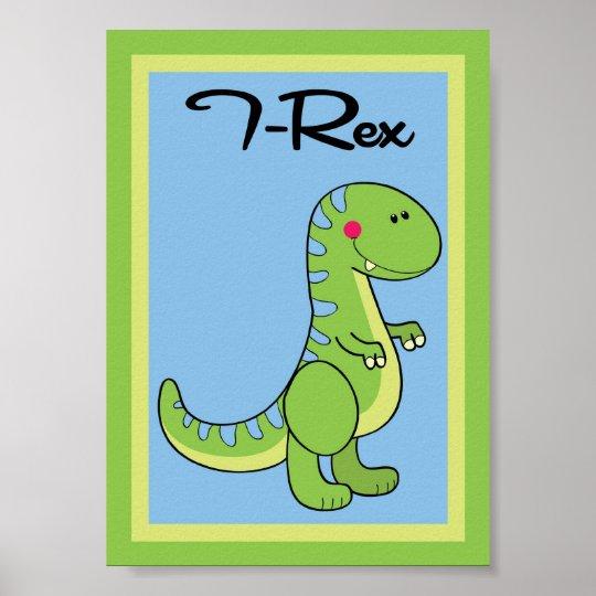 5X7 T-Rex Dinosaurs Wall Art