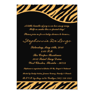 5x7 Tiger Animal Print Baby Shower Invitation