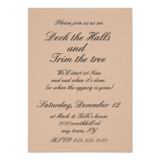 5x7 Tree Trimming Party invitaion with envelope 11 Cm X 16 Cm Invitation Card