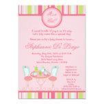 5x7 Trendy Chic Tea Party Baby Shower Invitation