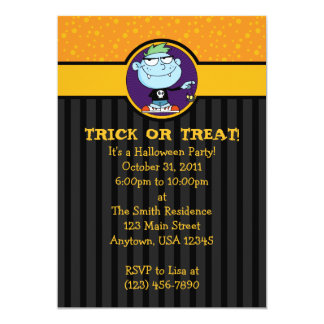5x7 Vampire Punk Halloween Party Invitations