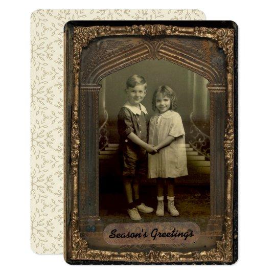5x7 Vintage Photo Frame & Personalised Greeting Card