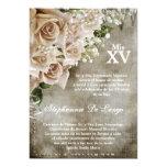 5x7 Vintage Roses Quinceanera Birthday Invitation 13 Cm X 18 Cm Invitation Card
