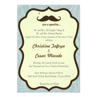 5x7 Wedding Invitation I Mustache You a Question