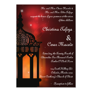 5x7 Wedding Invitation Moroccan Lantern Indian