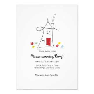 5x7 Whimsical Housewarming Party Personalized Invitation