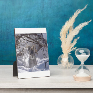 5x7 with Easel Rabbit Print Plaque