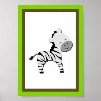 5X7 Zebra Jungle Animal Wall Art Print