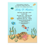"5x7Boy Under the Sea  Birthday Party Invitation 5"" X 7"" Invitation Card"