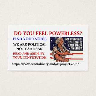 600_7880812, DO YOU FEEL POWERLESS?, FIND YOUR ... BUSINESS CARD