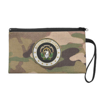 [600] Acquisition Corps (AAC) Branch Insignia [3D] Wristlet Purses