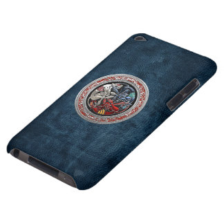 [600] Celtic Treasures - Three Dogs on Silver iPod Touch Cases