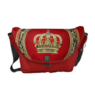 [600] Prince-Princess King-Queen Crown [Belg.Gold] Commuter Bags