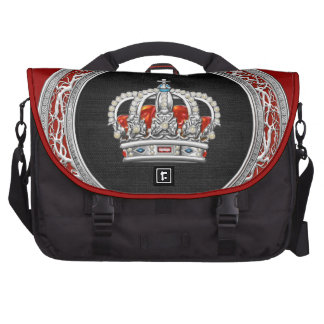 [600] Prince-Princess King-Queen Crown [Silver] Bags For Laptop