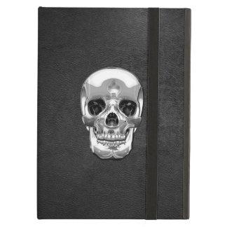[600] Silver Human Skull iPad Air Covers