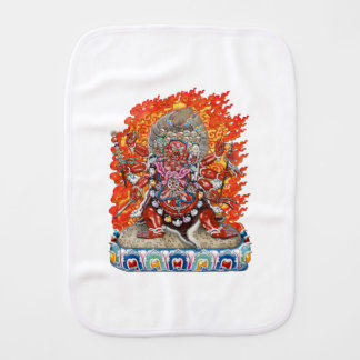 [600] Tibetan Thangka  - Wrathful Deity Hayagriva Baby Burp Cloth