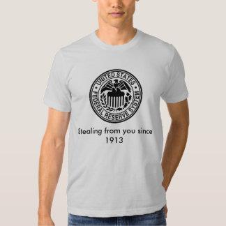 600px-US-FederalReserveSystem-Seal_svg, Stealin... T-shirts