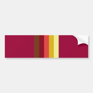 605_fall-palette STRIPES BROWN YELLOWS CREAMS PURP Bumper Sticker