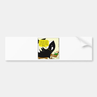 605 killer whale or panda cartoon bumper sticker