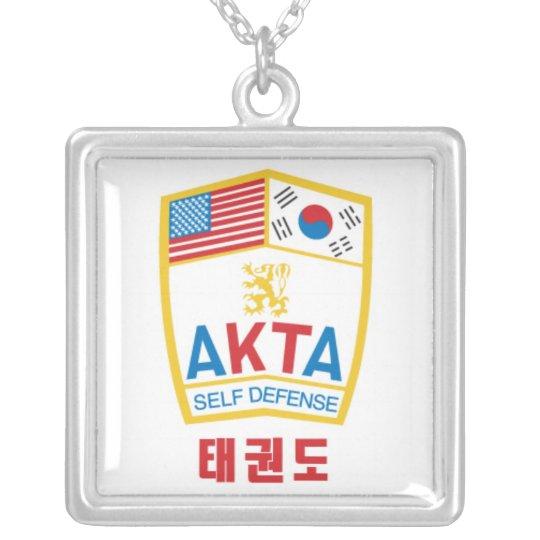 606-1 AKTA Square Sterling Silver Necklace