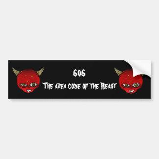 606 The area code of the Beast Bumper Sticker