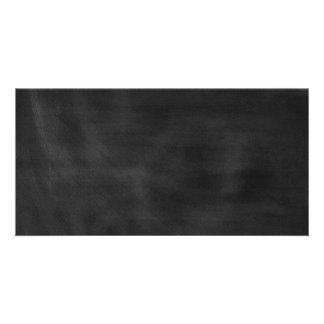 6089 chalkboard BLACK CHALK BOARD TEXTURE GRUNGE T Photo Greeting Card