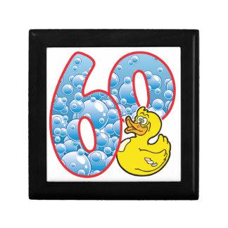 60 Age Duck Small Square Gift Box