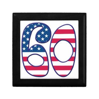 60 Age USA Small Square Gift Box