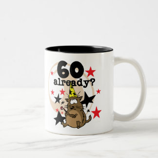 60 Already Birthday Two-Tone Coffee Mug
