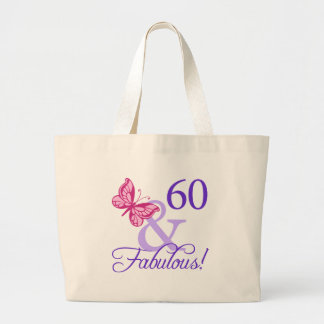 60 And Fabulous Birthday Large Tote Bag