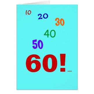 60 and still accounting! greeting card